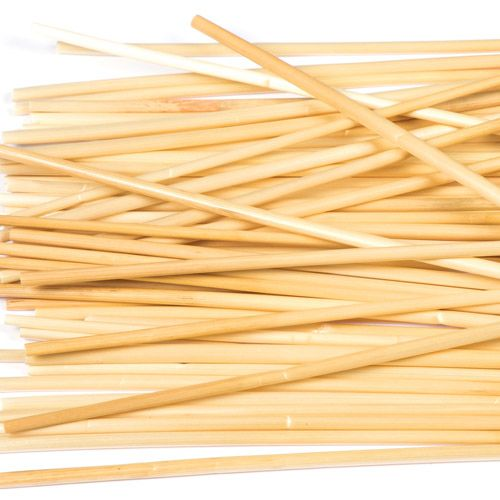50 x Natural Wheat Drinking Straws (145mm)